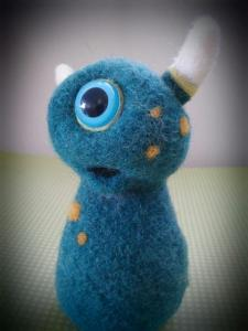 Baby Emm (blue) - needle felted by Aviena